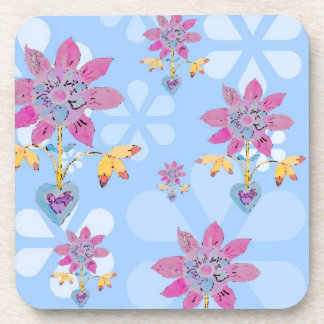 Floral Heart Coaster