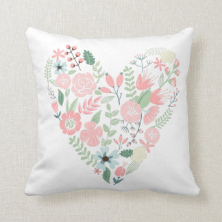 Floral Heart Cushion