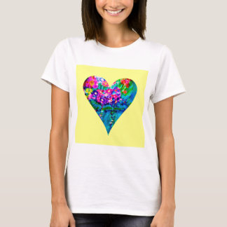 Floral Heart Designer Art T-Shirt