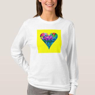 Floral Heart Designer Art T-Shirt