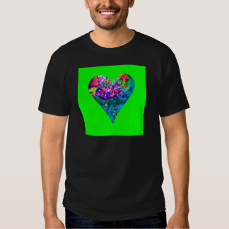 Floral Heart Designer Art T-shirts