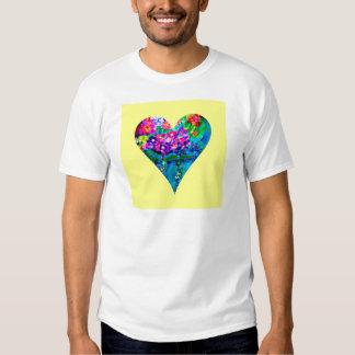 Floral Heart Designer Art Tee Shirt