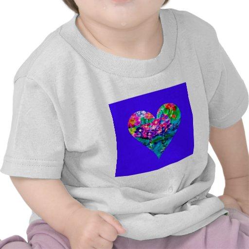 Floral Heart Designer Art Tshirts
