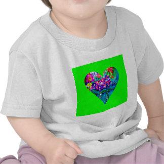 Floral Heart Designer Art T Shirt