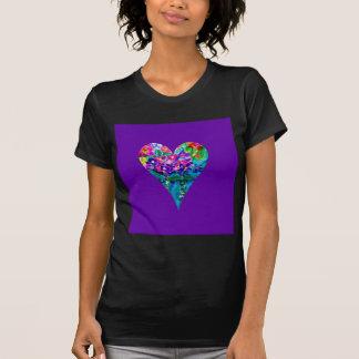 Floral Heart Designer Art Tees