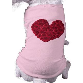 Floral Heart Dog Tee