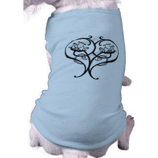 Floral Heart Sleeveless Dog Shirt