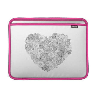 Floral Heart Doodle Sleeve For MacBook Air