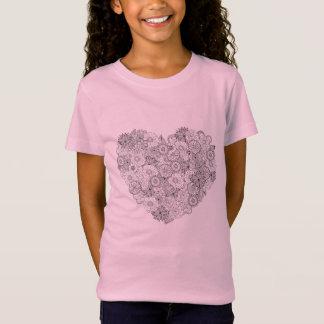 Floral Heart Doodle T-Shirt