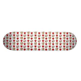 Floral Heart Pattern Skateboard