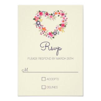 Floral Heart - RSVP Card