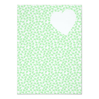 Floral Heart Wedding Invitation in Green