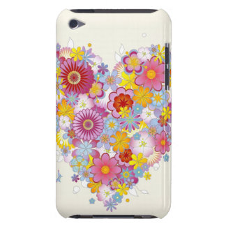 Floral heart with butterflies iPod touch cases