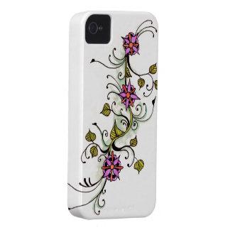 Floral henna tattoo body art design iPhone 4 Case-Mate case