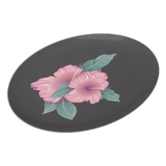 Floral Hibiscus Plate