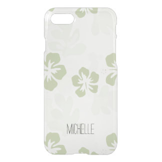 Floral Hibiscus with Name iPhone 7 Case