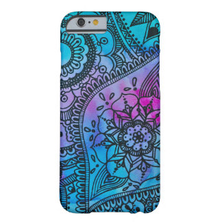 Floral Hippie Pattern - Blue By Megaflora Barely There iPhone 6 Case
