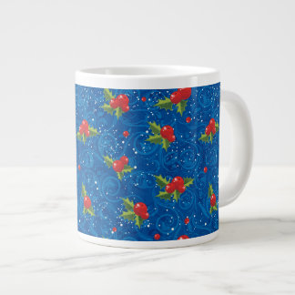 Floral Holiday Pattern Large Coffee Mug