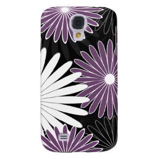 floral hot violet and purple galaxy s4 case