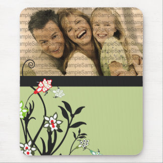 Floral Illustration_3 with PHOTO template Mousepad