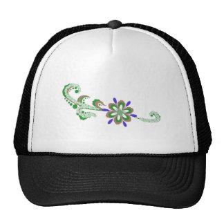 Floral illustration hats