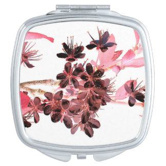 Floral illustration mirrors for makeup