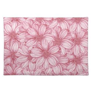 Floral Illustrative Print Placemat