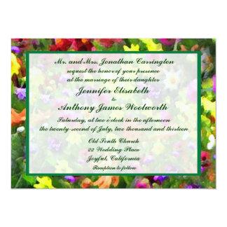 Floral Impressions Wedding 14 Cm X 19 Cm Invitation Card