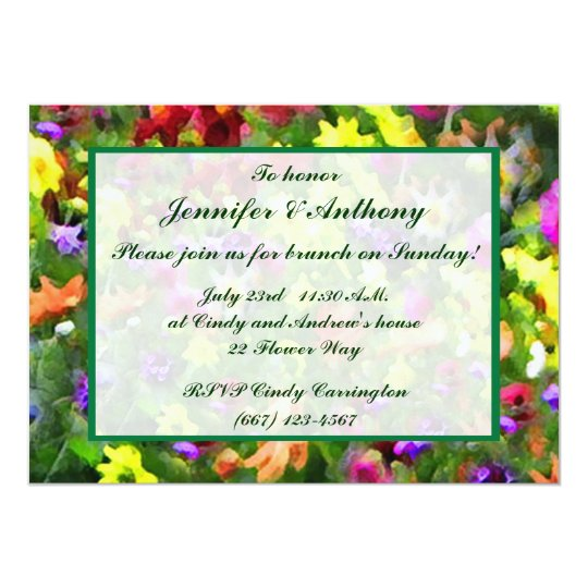 Floral Impressions Wedding Brunch Card