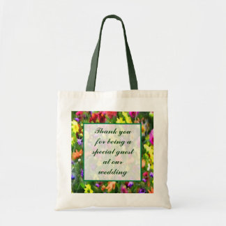 Floral Impressions Wedding Favor Tote Bags