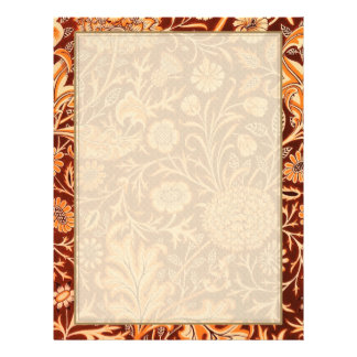 Floral in Fiery Red and Orange 21.5 Cm X 28 Cm Flyer
