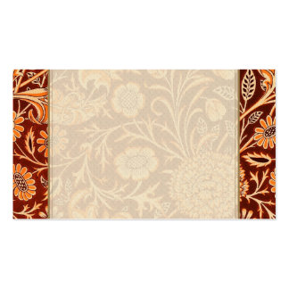 Floral in Fiery Red and Orange Business Cards