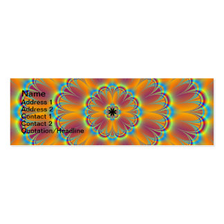 Floral in Green and Orange Card Pack Of Skinny Business Cards