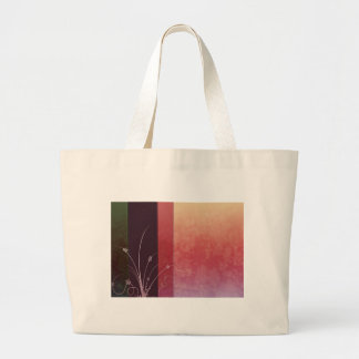 Floral in pink and purple jumbo tote bag