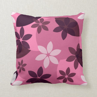 Floral in pink throw pillow