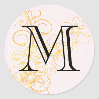 Floral Initial Sticker