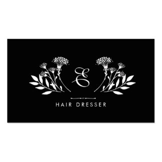 Floral Insignia Hairdresser Pack Of Standard Business Cards