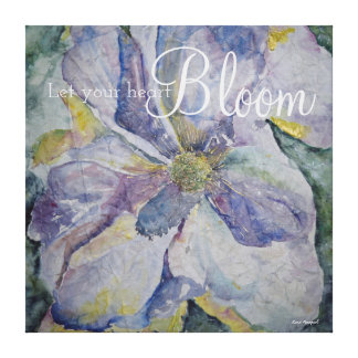Floral Inspiration Quote Watercolor Canvas Print