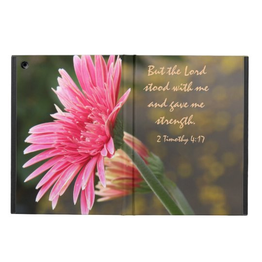 Floral iPad Air, Bible Verse about God's Strength