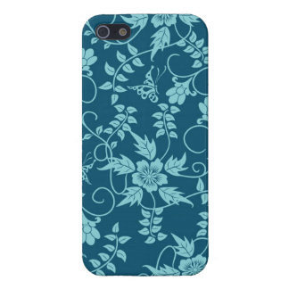 Floral iPhone 5 case Blue Green Teal