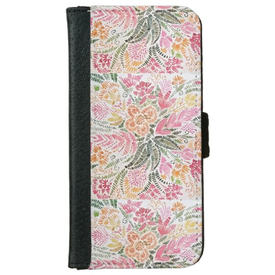 Floral Iphone 6/6s Wallet Case