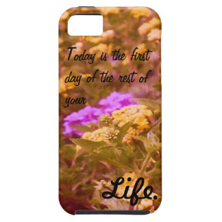 Floral IPhone case with quote Case For The iPhone 5