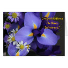 Floral, Iris and Mini Daisy, Retirement Card