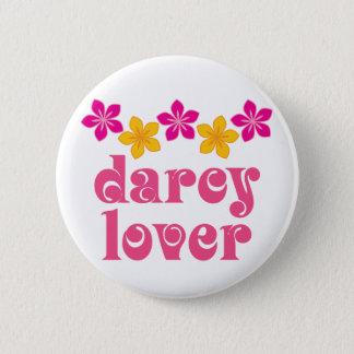Floral Jane Austen Darcy Lover Gift 6 Cm Round Badge