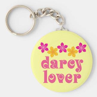 Floral Jane Austen Darcy Lover Gift Basic Round Button Key Ring