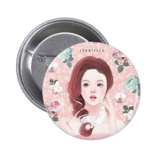 floral Jennie 2¼ Inch Round Button