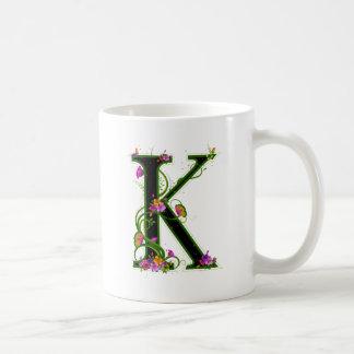 Floral K Coffee Mug