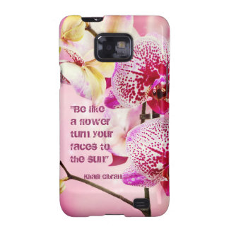 Floral Kahlil Gibran quote flowers background Samsung Galaxy S2 Cover