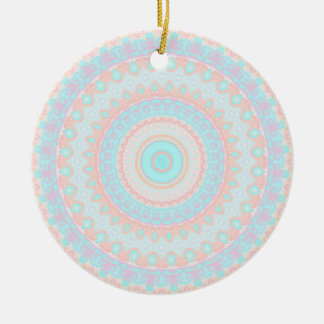 Floral Kaleidoscope 3 Christmas Ornament