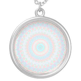 Floral Kaleidoscope 3 Silver Plated Necklace